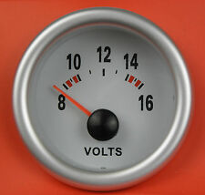 S2 52mm Volt Meter/Voltage gauge Blue light Fiat Uno Punto Brava Bravo 500 Coupe