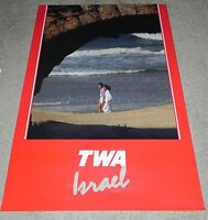"Original Vintage TWA  Israel Poster 26"" x 38"""