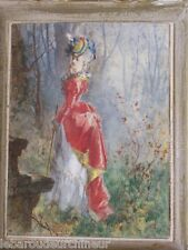 ancienne peinture Renoir, femme élégante début 20èmes