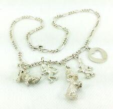 """Paul Smith Charm Necklace with Rabbit Dog Monkey Dog & Shoe,16"""" / 41cm"""