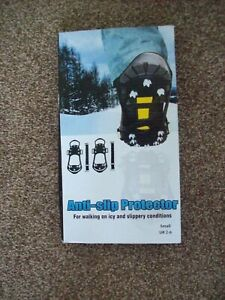 BNIB ANTI SLIP PROTECTOR WORN OVER SHOES SZ SMALL - FITS SHOE 2-6
