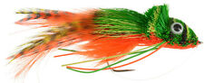 Fly Fishing Flies (Bass, Pike, Trout, Muskie) Swimming Frog Orange Belly (3)