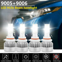 Combo 9005+9006 LED Headlight High/Low Beam 6000K Kit for Chevy Silverado Tahoe