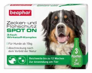 BEAPHAR 13847 Zecken- und Flohschutz SPOT-ON 3x2ml, für große Hunde (ab 15 kg)
