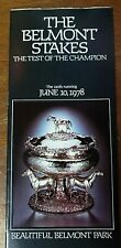 1978 Belmont Stakes Program Triple Crown Affirmed