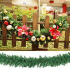 2.7M X 25CM Garland Christmas Decoration Xmas Fireplace Mantel Tree Pine Green