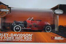 1:18 Highway 61 Harley-Davidson 1929 FORD Hot Rod - rosso con Flames - rarità $