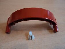 Replacement Custom Red Nintendo Gamecube Handle - Rear Holder with screws