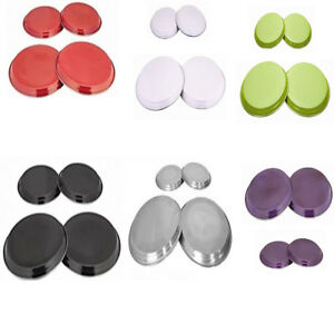 4 Hob Covers Stainless Steel Coloured Rings Cooker Oven Metal Cover Protectors