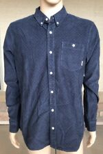NWT Vans Long Sleeve Button Down Polo Shirt Thin Corduroy Polka Dot Size Large