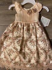 NWT Bonnie Jean  Champaign w flowers Dress-Size 5-Gorgeous-NWT