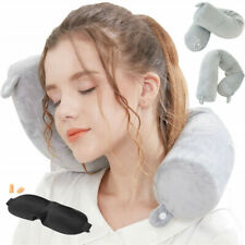 Portable Memory Travel Foam Pillow Neck Support Head Rest Airplane Cushion CA