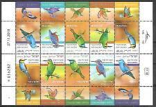 Israel Stamps Sheet MNH Birds In Israel Coraciiformes Year 2019