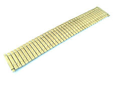 Wide Stretch Expansion Gold Tone Steel Metal Watchband 21-26 Millimeters