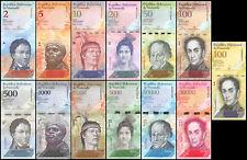 Venezuela 2-100,000 Bolivares  13 Pieces (PCS) Full Set, 2013-2017, P-NEW, UNC