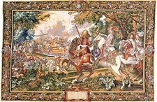 Versailles Renaissance Tapestry The Sun King @ Bruges Canal (H44xW26) Beautiful!