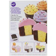 Wilton 12 Cavity TWO TONE CUPCAKES Non Stick Pan Bakeware Party Baking Tray Tin