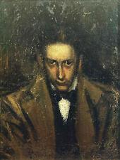 """Portrait of Casagemas (1899) by Pablo Picasso - 17"""" x 22"""" Fine Art Print - 00308"""