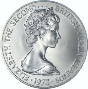 Better Date - 1973 British Virgin Islands 1 Dollar - SILVER *560