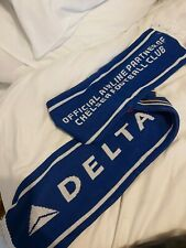 Chelsea Football Club + Delta Airlines Scarf- Collectible