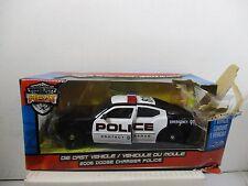 1/24 SCALE JADA BADGE CITY HEAT BLACK / WHITE POLICE 2006 DODGE CHARGER