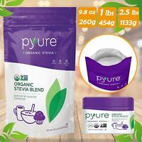 Pyure Organic STEVIA Powder Natural Sweetener 0 Calorie Sugar Free Substitute