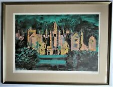 John Piper, Harlaxton Manor, 1977 Screenprint, Signed and Number 79/100, Framed