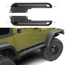 Fit 1997-2006 Jeep Wrangler TJ Side Step Armor Black Running Board Nerf Bar
