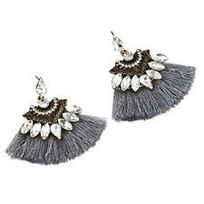 Fashion Crystal Rhinestone Tassel Drop Dangle Ear Stud Earrings Women Jewelry