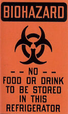 Biohazard Fridge Magnet Plague Toxic Medical Chemical Zombie Contagion