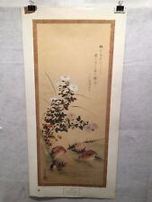Vintage Tosa Mitsuoki Chrysanthemum and Quail New York Graphic Society Print