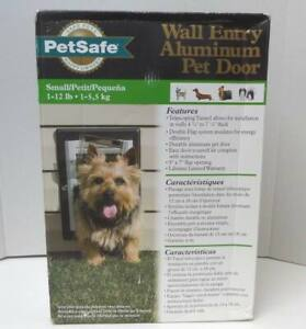 PetSafe Wall Entry Aluminum Pet Door Telescoping Tunnel Double Flap - Size Small