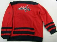 Washington Capitals Youth Red Pullover XL Embroidered Fleece Lined Hoodie NHL