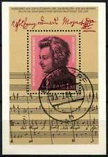 East Germany 1981 SG#MSE2287 Wolfgang Amadeus Mozart Cto Used M/S #D71054A