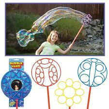 4 Jumbo Big Bubble Maker Soap Wands Outdoor Play