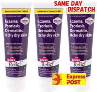 3x 60g Hopes Relief Cream Premium Natural Eczema Psoriasis Dermatitis Hope's
