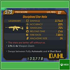 Borderlands 3 [XBOX ONE] [57] disciplinado Star lvl hélice 2.9 y 4X de Zoom arma