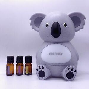 doTERRA Koala UltraSonic Diffuser + 3x5ml Top Selling Essential Oils Gift Pack