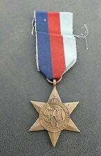 Ww11 Aif Australian / British 1939-45 Star Medal Original Ribbon Un-Named