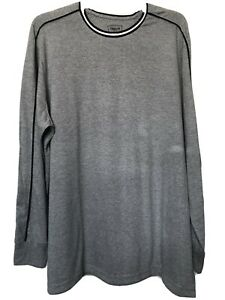 FOUNDRY B&T LS Tee Pipe Shirt, Light Gray Navy Block, 2XL, Crew-Neck  #212