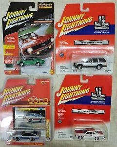 Johnny Lightning lot of 4 mixed cars, NIP (13i)