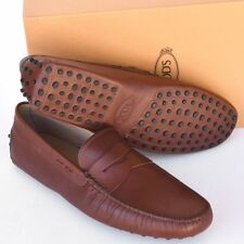 TOD'S Tods New sz UK 10.5  - US 11.5 Designer Mens Drivers Loafers Shoes brown