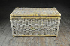 large wicker storage box chest basket  - FREE DELIVERY