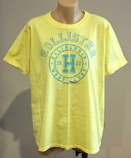 Abercrombie & Fitch HOLLISTER T-SHIRT Womens Yellow Logo Tee Top Size XS NWT