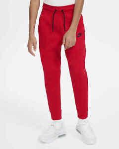 Nike Sportswear Tech Fleece Jogger Size Small Big Kids Pants Red CU9213 657