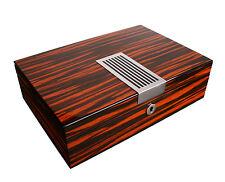 AXIS® Ebony Wide Glossy Wood 8 Watch Box