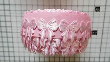 2m-rose-motif nœud-parage, appliques, mariage ruban en dentelle satin -