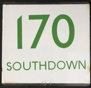 LONDON TRANSPORT E PLATE ENAMEL BUS STOP SIGN SIGNAGE SOUTHDOWN ROUTE 170