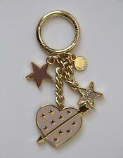 MICHAEL MICHAEL KORS Pavé Gold-Tone Key Chain 32S7GKDK1U, Soft Pink Heart