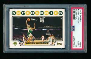 PSA 9 KEVIN DURANT 2008-09 TOPPS GOLD FOIL PARALLEL #156 *BROOKLYN NETS* * MINT